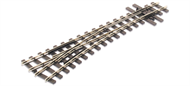 Mainline Turnout L/H, 457mm (18in) radius, nickel silver rail